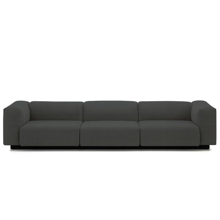 Soft Modular 3-seater sofa from Vitra in anthracite (Laser 03)