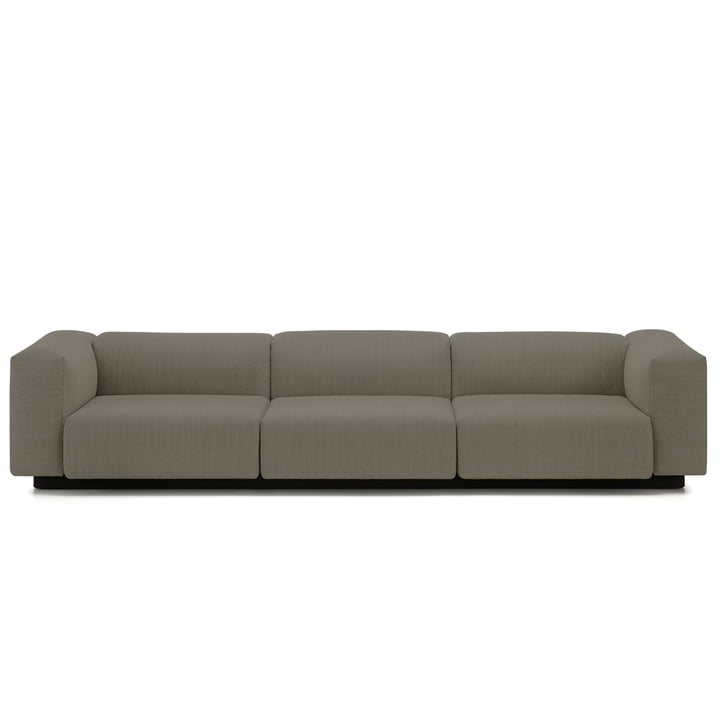 Soft Modular 3-seater sofa from Vitra in warm grey (Laser 05)