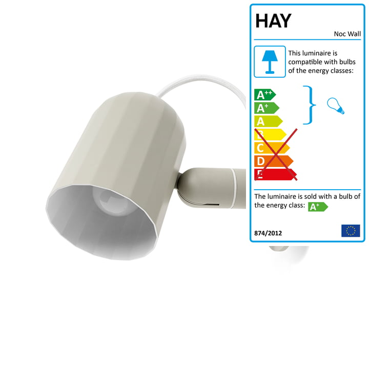 Hay - Noc Wall Lamp, white