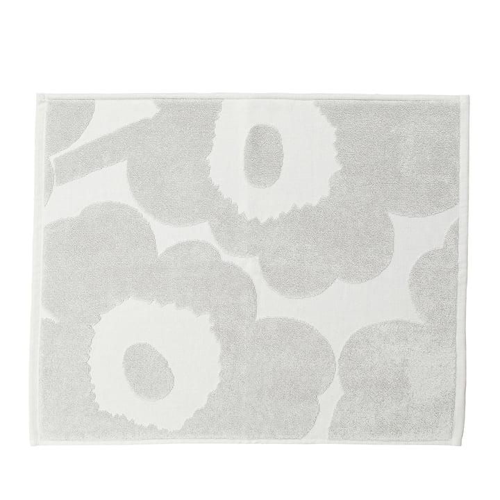 Unikko Solid Bath Mat in grey by Marimekko