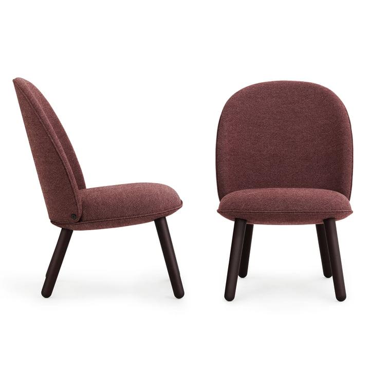 Normann Copenhagen - Ace Lounge Chair Nist, dark red