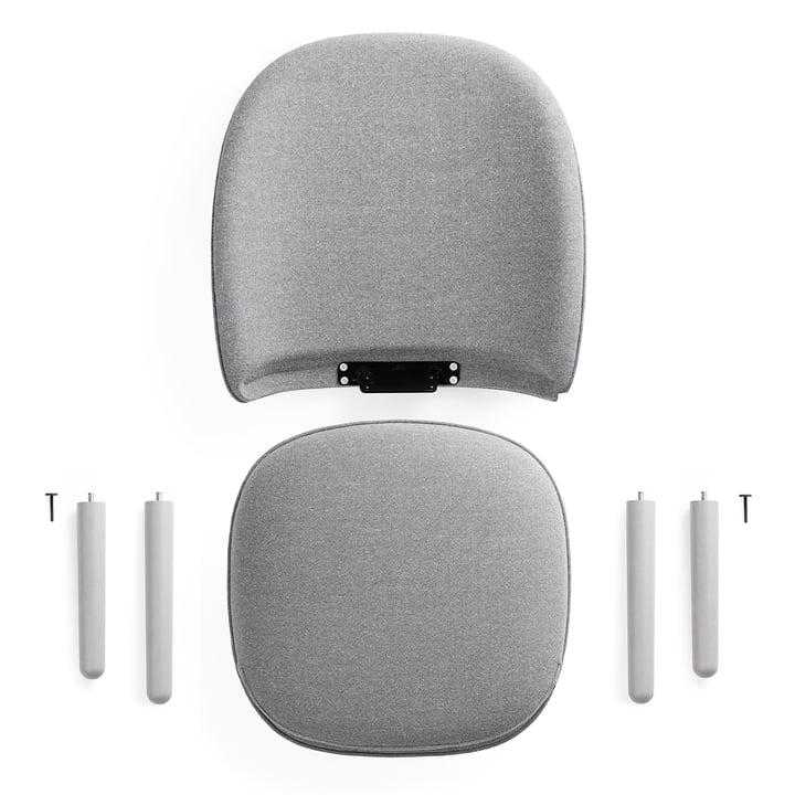 Normann Copenhagen - Ace Lounge Chair Nist, grey - individual pieces