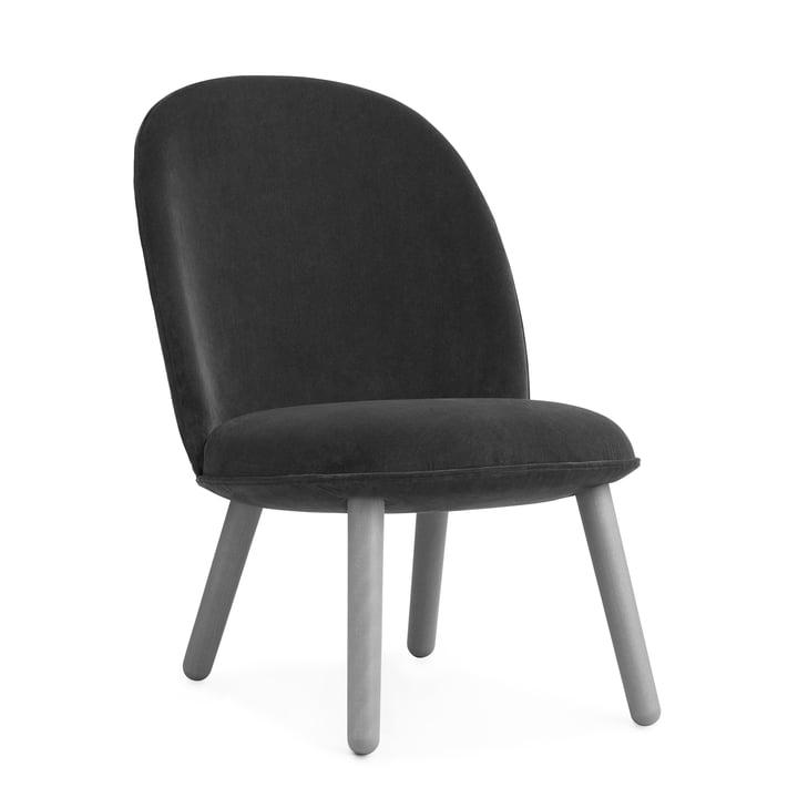 Normann Copenhagen - Ace Lounge Chair Velour, grey
