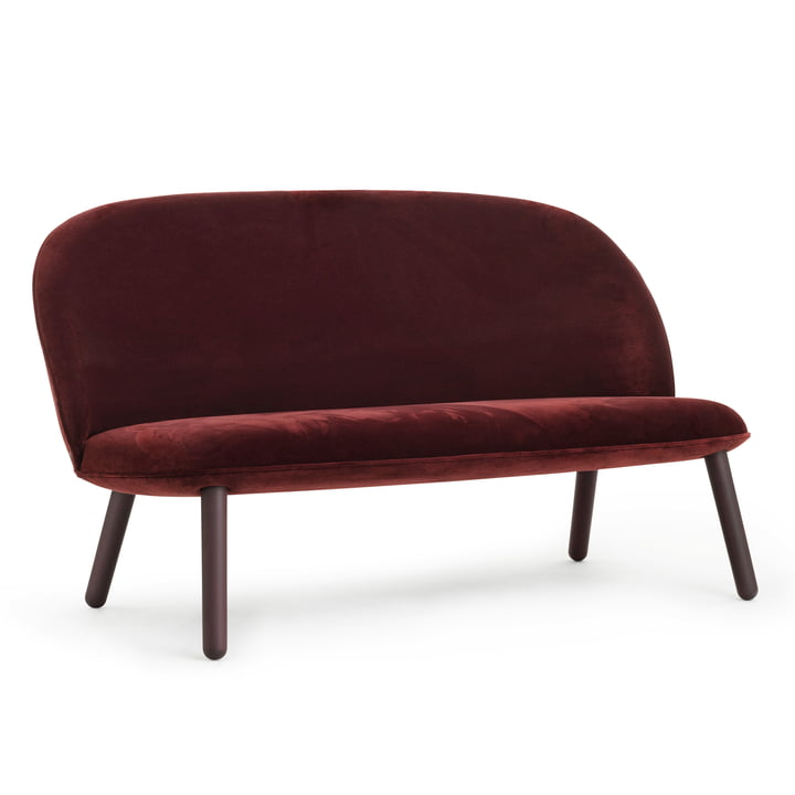 Ace Sofa Velour from Normann Copenhagen in dark red