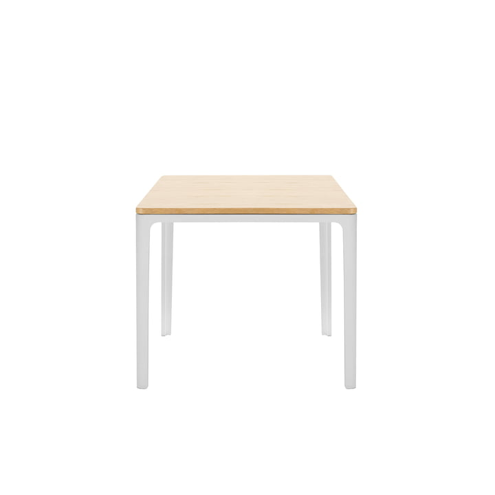 Plate Table 370 x 400 x 400 mm oak natural solid, oiled by Vitra