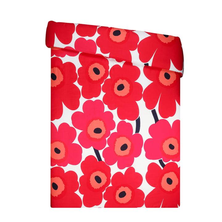 Unikko blanket cover from Marimekko in red / white