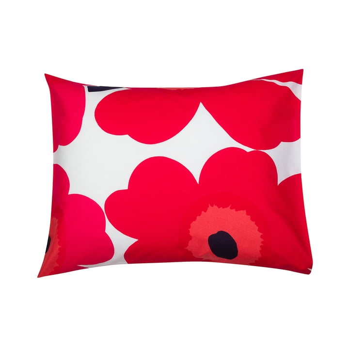 Unikko Pillow case 65 x 65 cm from Marimekko in red / white