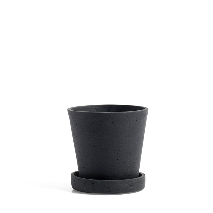 Hay - Flower Pot with Saucer S, black