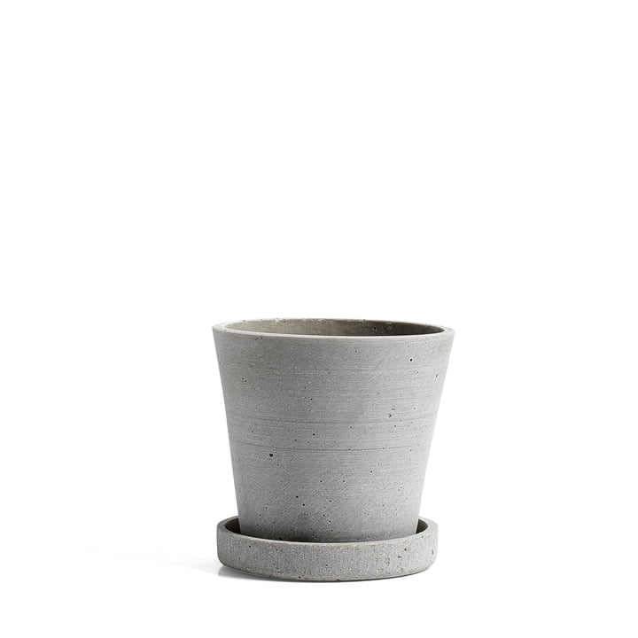 The Hay Flower Pot with trivet in S, grey