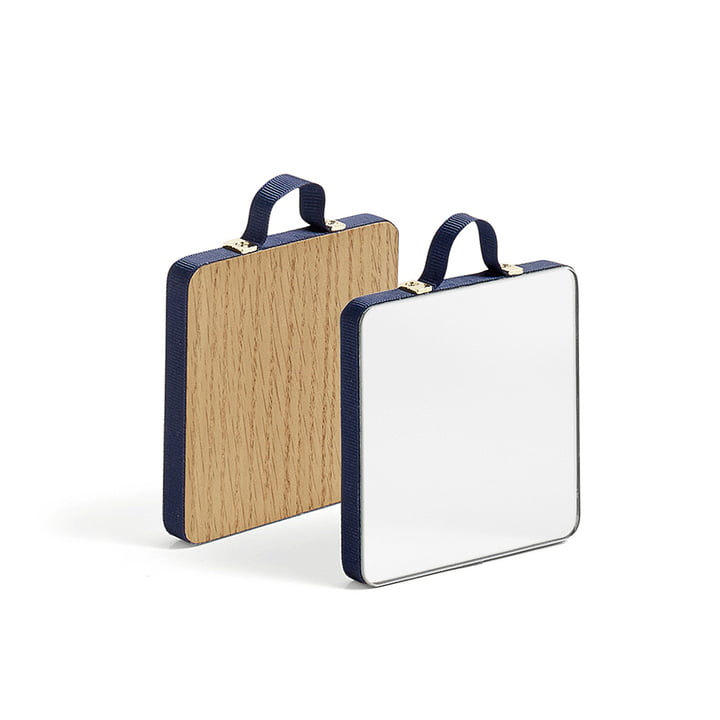The Hay - Ruban Mirror square XS in blue