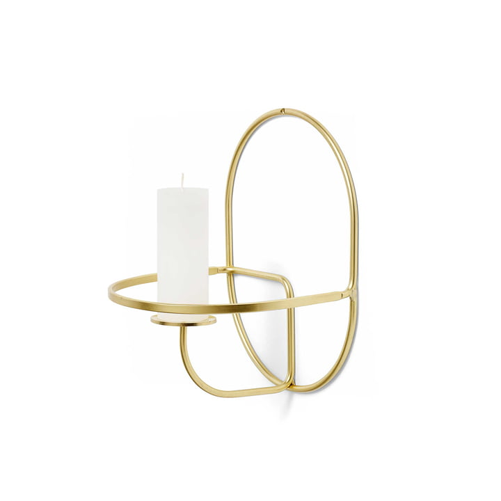 The Hay - Lup wall candle holder in brass, round