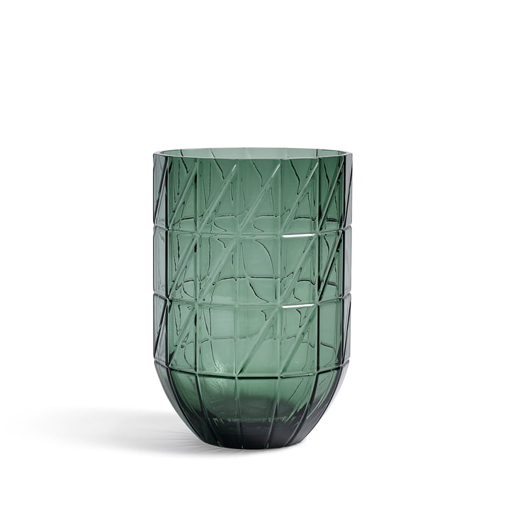 The Hay - Colour Vase Glass vase in L, green