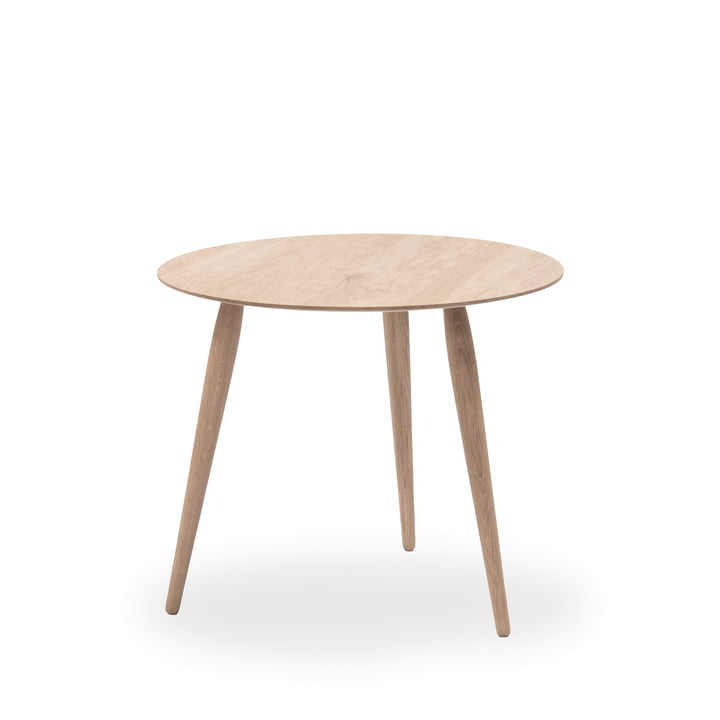 Play Round Wood Side Table Ø 45 cm by bruunmunch in oak soaped