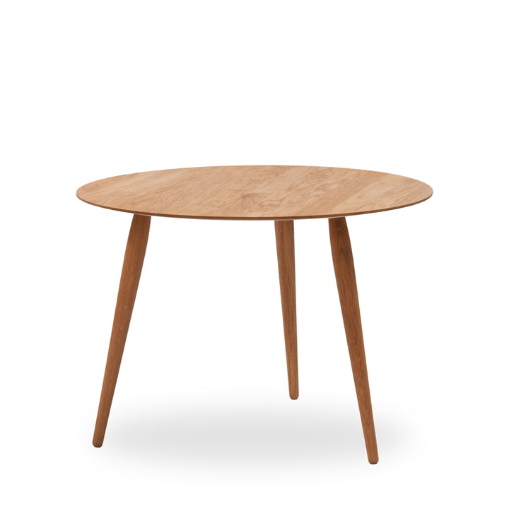 Play Round Wood Side Table Ø 90 cm by bruunmunch in oak nature