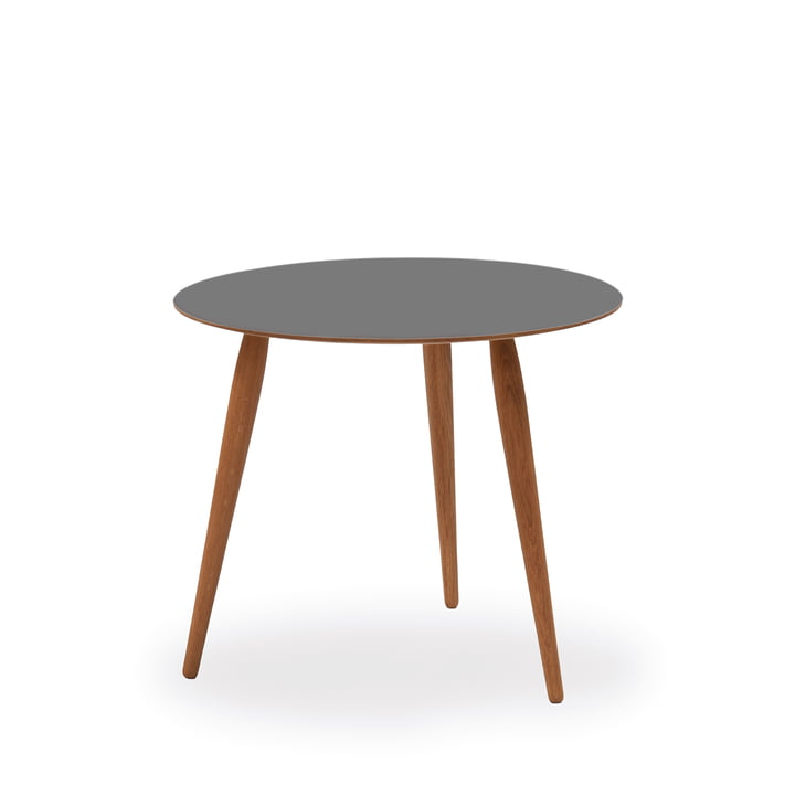 Play Round Laminate Side Table Ø 45 cm by bruunmunch in Storm Grey / oak oiled