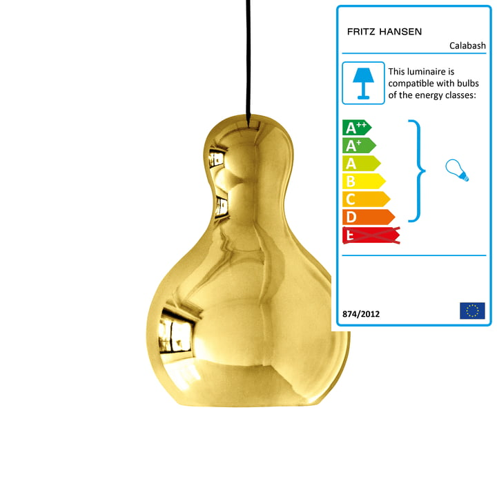 Calabash Pendant Lamp P3 by Fritz Hansen in Gold