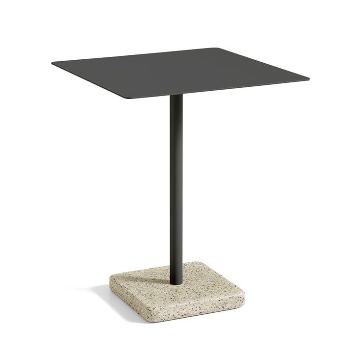 Hay - Terrazzo Table square 60 x 60cm, black / yellow