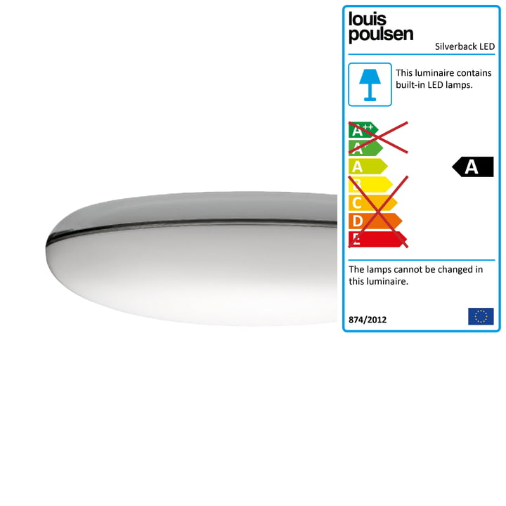 Lous Poulsen - Silverback ceiling and wall lamp Ø 440 mm