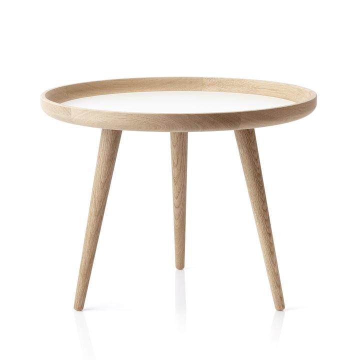 The applicata - Table Ø 69cm, oak / white laminate
