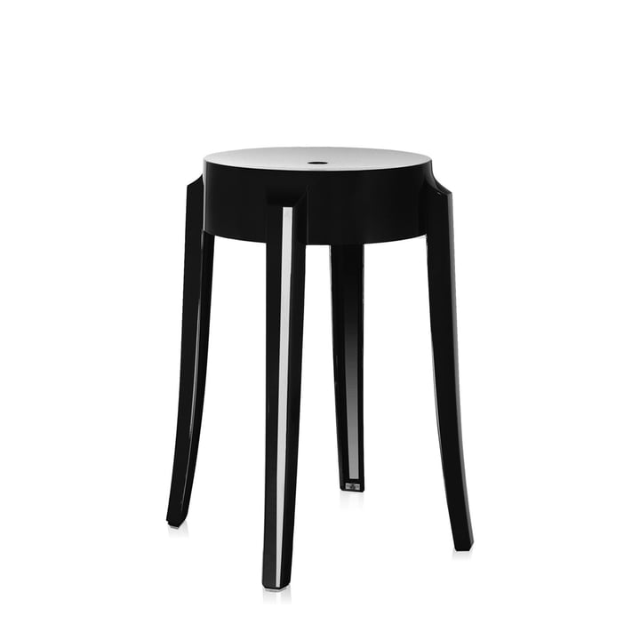 Kartell - Charles Ghost Stool, height 46 cm, shiny black