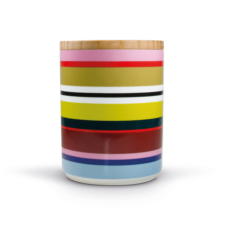Porcelain jar Verano with wooden lid by Remember