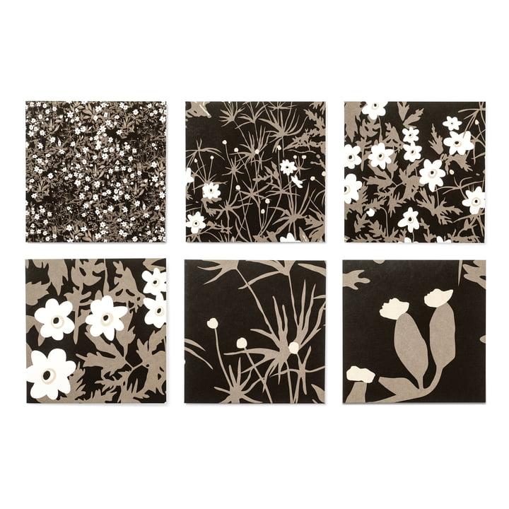 Design Letters - AJ Design Cards (set of 6), Vintage Flower