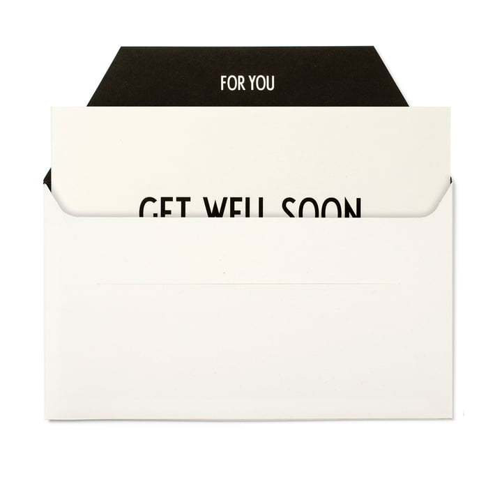 Design Letters - AJ Greeting Card, Get Well Soon