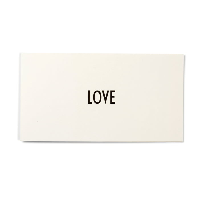Design Letters - AJ Greeting Card, Love