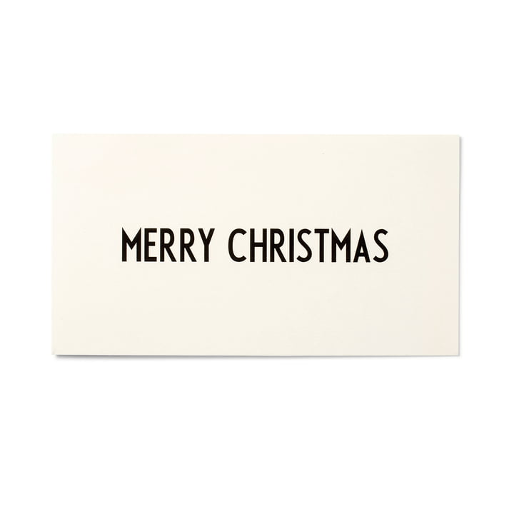 Design Letters - AJ Greeting Card, Merry Christmas