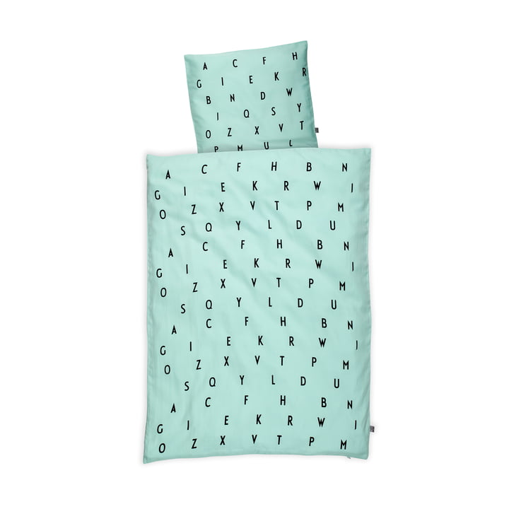 Design Letters - AJ Baby Bed Linen, mint green