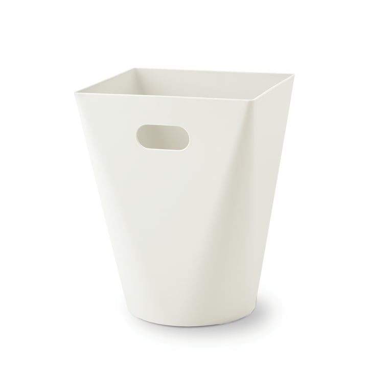 Authentics - Square Midi, wastepaper bin, white