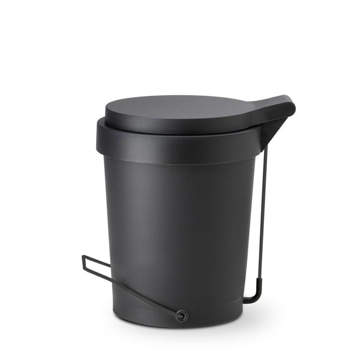 Depot4Design - Tip pedal bin 7 liter, Ø 22 cm, black / black