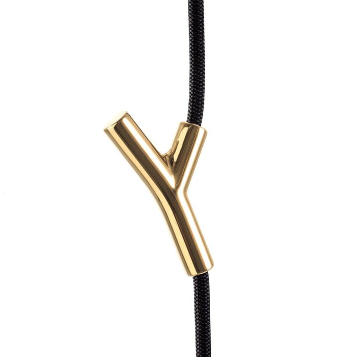 Authentics - Wardrope wardrobe rope, black / gold