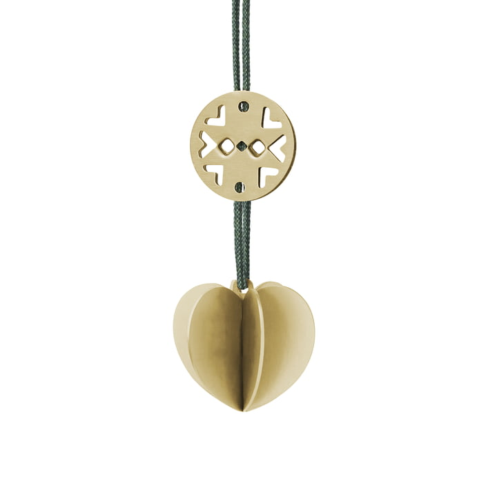 Nordic Ornament Heart by Stelton made of Brass