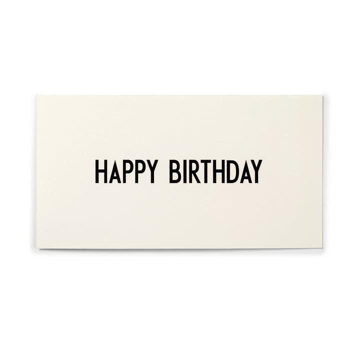 Design Letters - AJ Greeting Card, Happy Birthday
