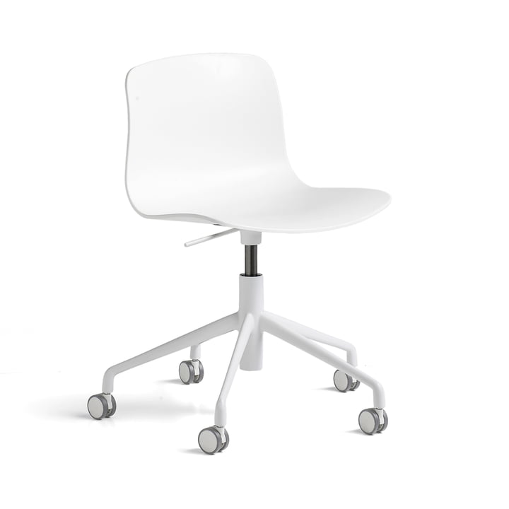 Hay - About A Chair AAC 50 with gas lift, powder coated white / white