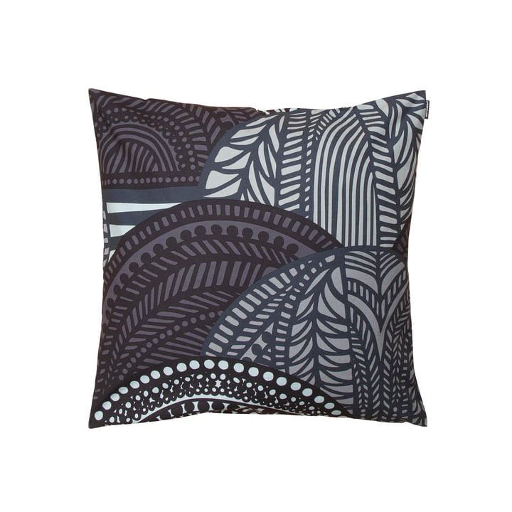 Vuorilaakso Cushion Cover 50 x 50 cm by Marimekko in grey / dark grey