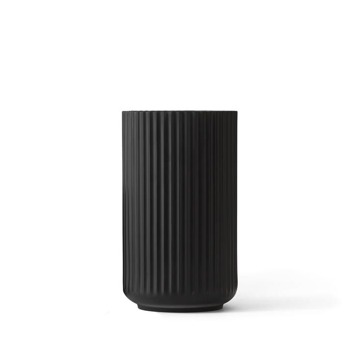 Lyngby Porcelæn - Lyngby Vase, black, H 12 cm