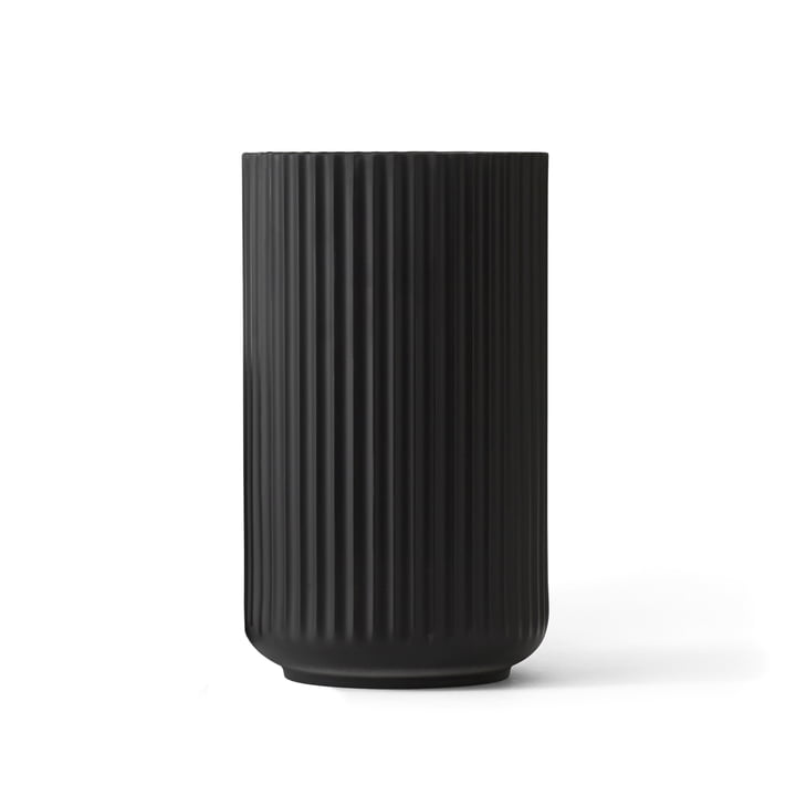 Lyngbyvase black from Lyngby Porcelæn H 20,5 cm