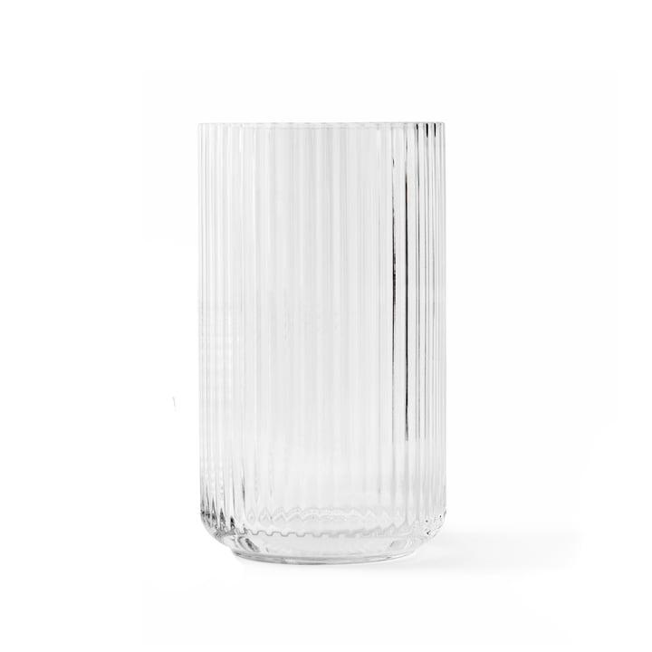 Glass vase H 20 cm from Lyngby Porcelæn in transparent
