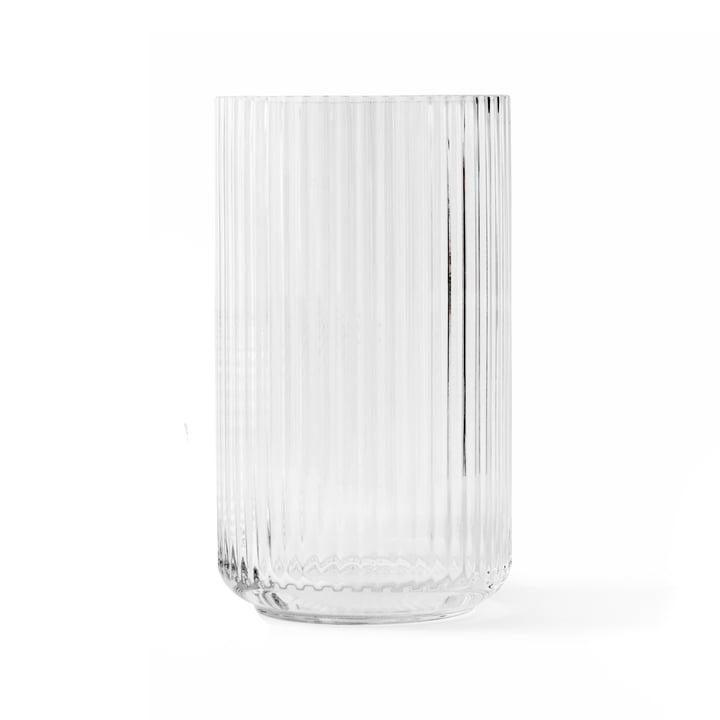 Glass vase H 25 cm from Lyngby Porcelæn in transparent
