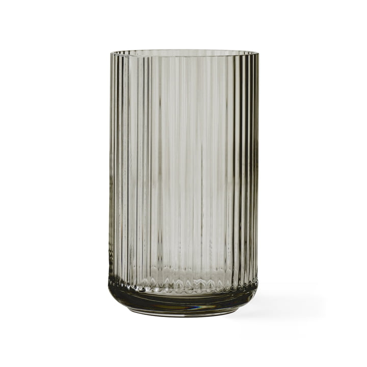 Glass vase H 25 cm from Lyngby Porcelæn in Smoke