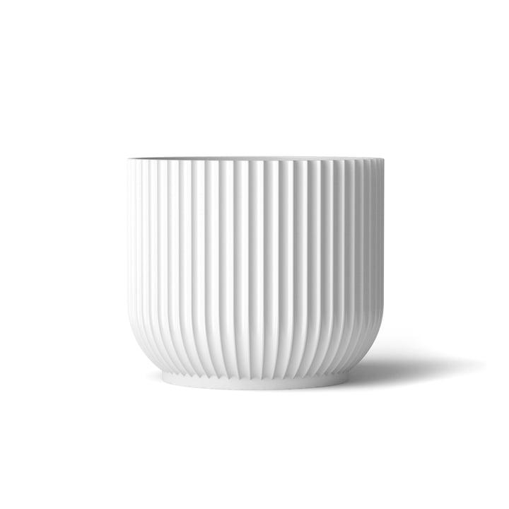 Flower Pot M by Lyngby Porcelæn in white