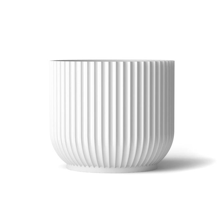 Flower Pot L by Lyngby Porcelæn in white