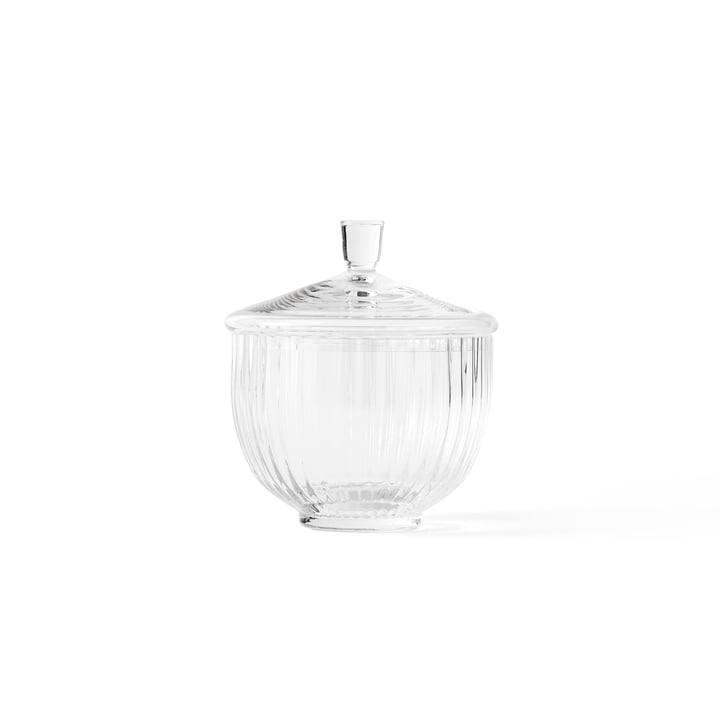 Bowl with Lid glass transparent ø 10 cm from Lyngby Porcelæn