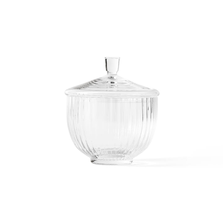 Bowl with Lid glass transparent ø 14 cm from Lyngby Porcelæn