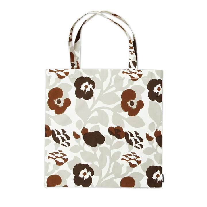 Marimekko - Pieni Green Green Tote Bag, grey white / brown
