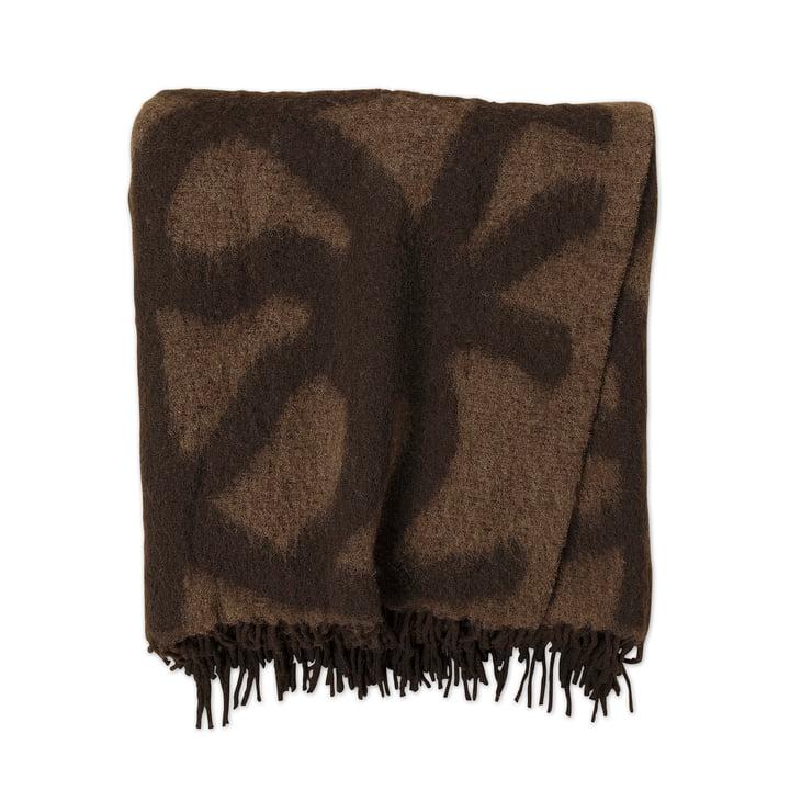 Marimekko - Joonas Blanket 130 x 190 cm, brown / dark brown