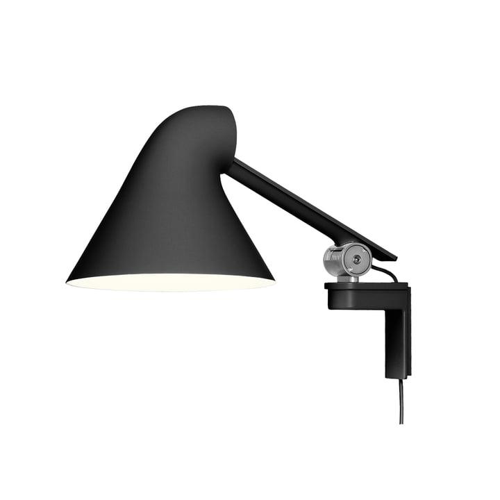 NJP wall lamp short arm by Louis Poulsen in black