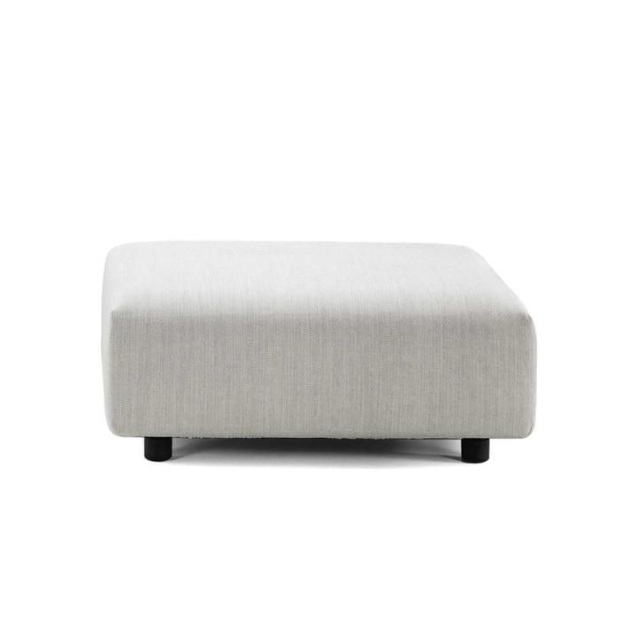 Vitra - Soft Modular Sofa, Ottoman, cream / steel grey (Maize 03)